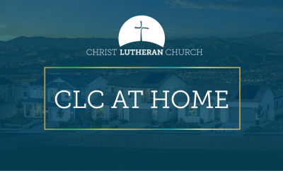 tract homes in the evening with words CLC at Home